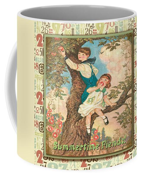 Children Coffee Mug featuring the digital art Friendship-c by Jean Plout