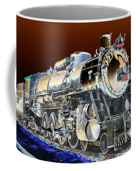 Train Coffee Mug featuring the photograph Frisco 1519 - Photopower 1463 by Pamela Critchlow