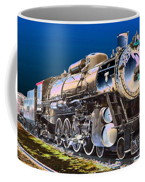 Train Coffee Mug featuring the photograph Frisco 1519 - Photopower 1464 by Pamela Critchlow