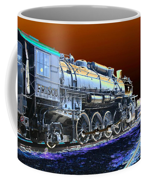 Train Coffee Mug featuring the photograph Frisco 1519 - Photopower 1466 by Pamela Critchlow