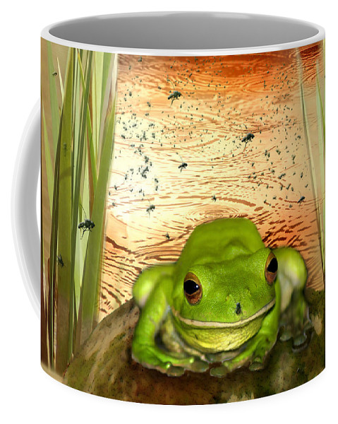 Nature Coffee Mug featuring the photograph Froggy Heaven by Holly Kempe