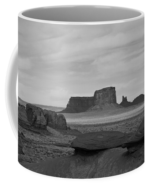 Monument Valley Coffee Mug featuring the photograph From Mystery Valley by Mike Herdering