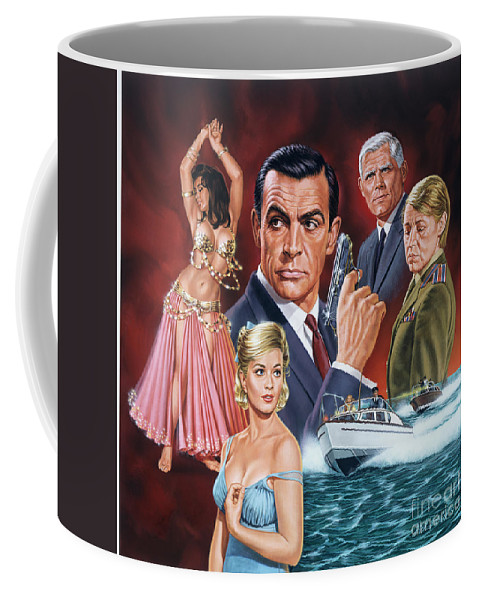 Portrait Coffee Mug featuring the painting From Russia With Love by Dick Bobnick
