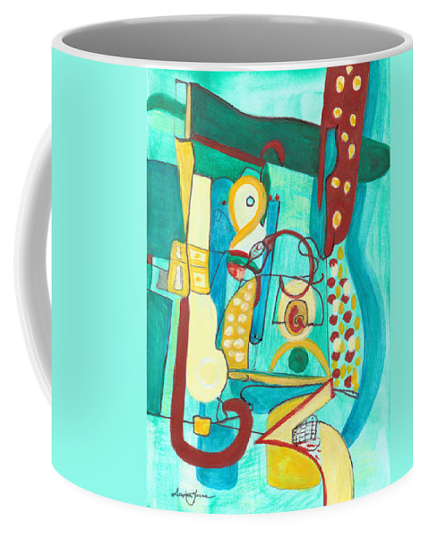 Abstract Art Coffee Mug featuring the painting From Within #20 by Stephen Lucas