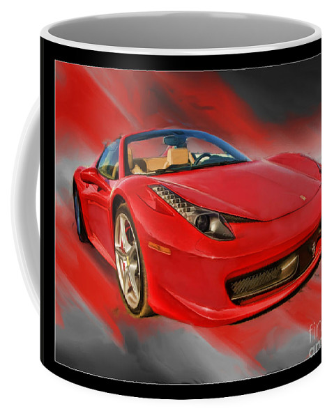 2012 458 Spider Coffee Mug featuring the photograph Front 2012 458 Spider by Blake Richards