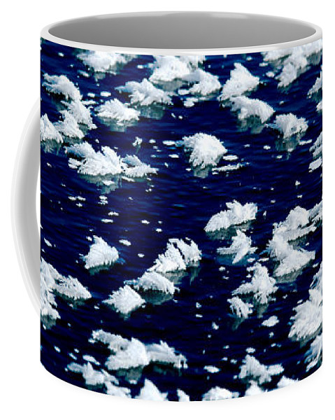 Frost Coffee Mug featuring the photograph Frost Flakes On Ice - 05 by Larry Jost
