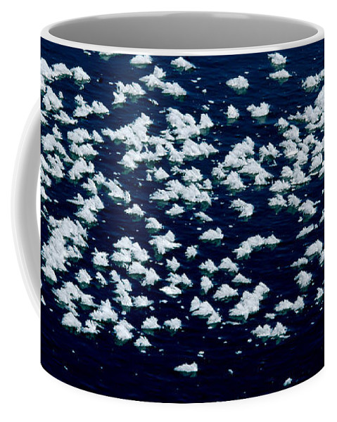 Frost Coffee Mug featuring the photograph Frost Flakes On Ice - 25 by Larry Jost