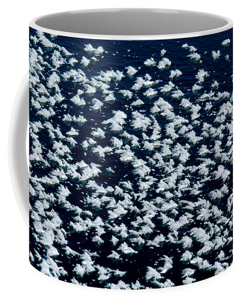 Frost Coffee Mug featuring the photograph Frost Flakes On Ice - 27 by Larry Jost