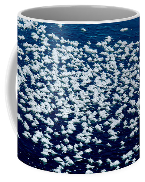 Frost Coffee Mug featuring the photograph Frost Flakes On Ice - 28 by Larry Jost
