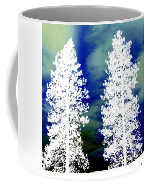 Photo-design Coffee Mug featuring the digital art Frosty Giants by Will Borden