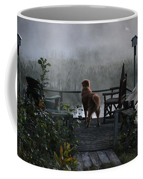 Fog Coffee Mug featuring the photograph Frosty Morning Golden by Thomas Phillips