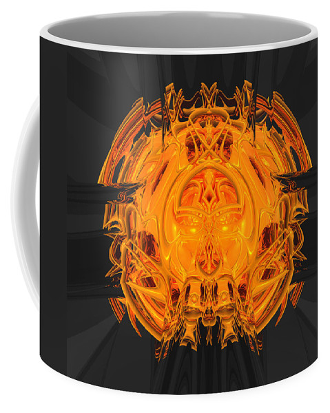 Abstract Coffee Mug featuring the digital art Froth Panel 15 by Zac AlleyWalker Lowing