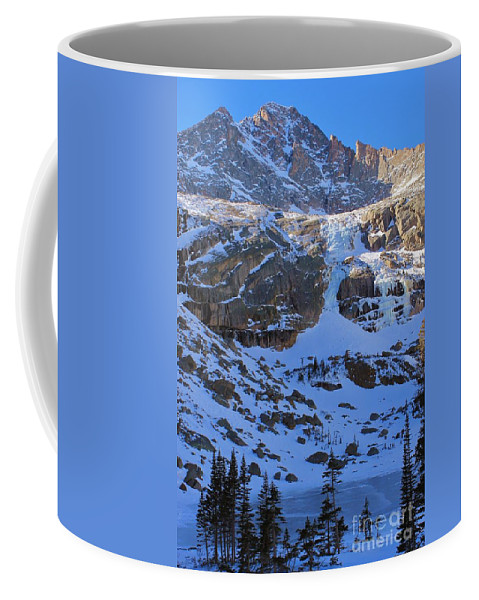 Frozen Coffee Mug featuring the photograph Frozen Black Lake by Tonya Hance