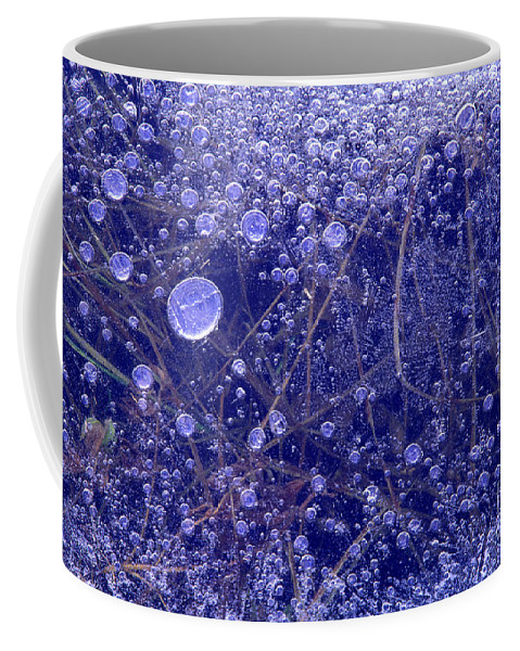 North America Coffee Mug featuring the photograph Frozen Bubbles In The Merced River Yellowstone Natioinal Park by Dave Welling