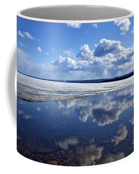 Ice Coffee Mug featuring the photograph Frozen Lake by Alanna DPhoto