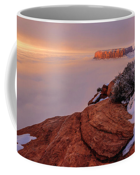 Canyonlands Coffee Mug featuring the photograph Frozen Mesa by Chad Dutson