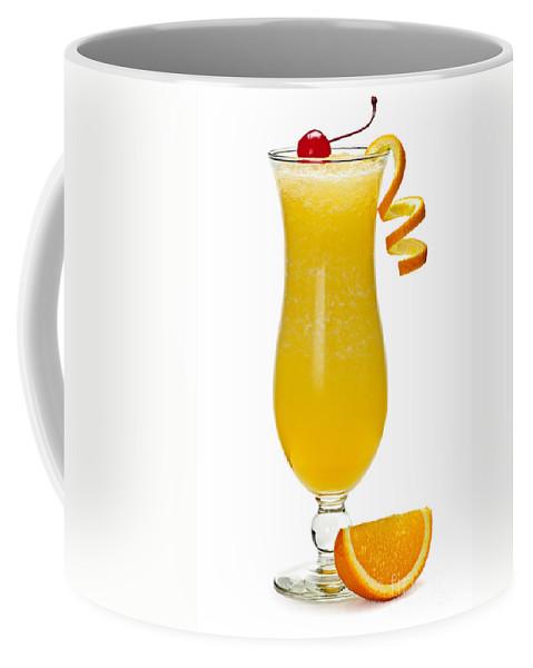 Orange Coffee Mug featuring the photograph Frozen Orange Drink by Elena Elisseeva