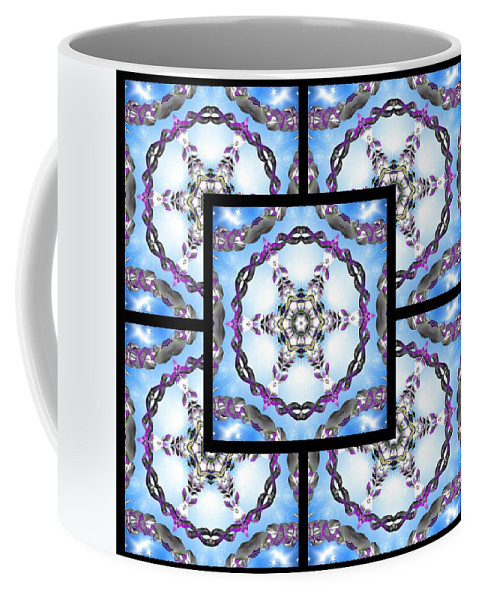 Sacredlife Mandalas Coffee Mug featuring the digital art Frozen Orbweaver Page by Derek Gedney