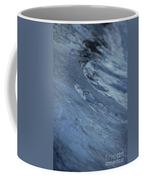 Abstract Coffee Mug featuring the photograph Frozen Wave by First Star Art
