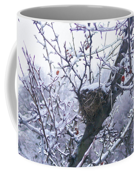 Ice Coffee Mug featuring the photograph Frozen Wonder by Tracy Winter