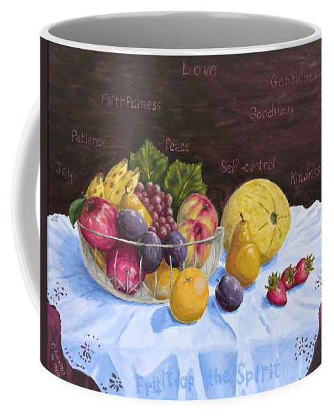 Fruit Coffee Mug featuring the painting Fruit Of The Spirit by Chuck Adams