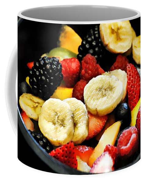Food Coffee Mug featuring the photograph Fruit Salad by Diana Angstadt