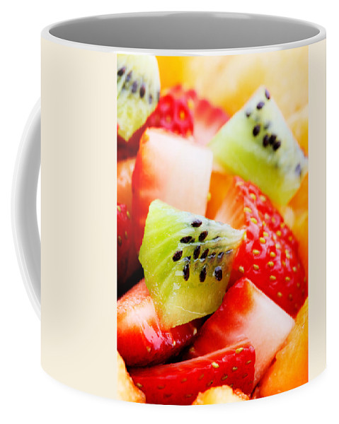 Fruit Coffee Mug featuring the photograph Fruit Salad Macro by Johan Swanepoel