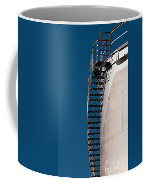 Industrial Coffee Mug featuring the photograph Fuel Storage Tank 03 by Rick Piper Photography