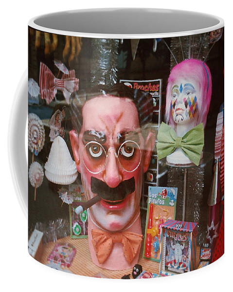 Groucho Marx Coffee Mug featuring the painting Full Marx by Charles Stuart
