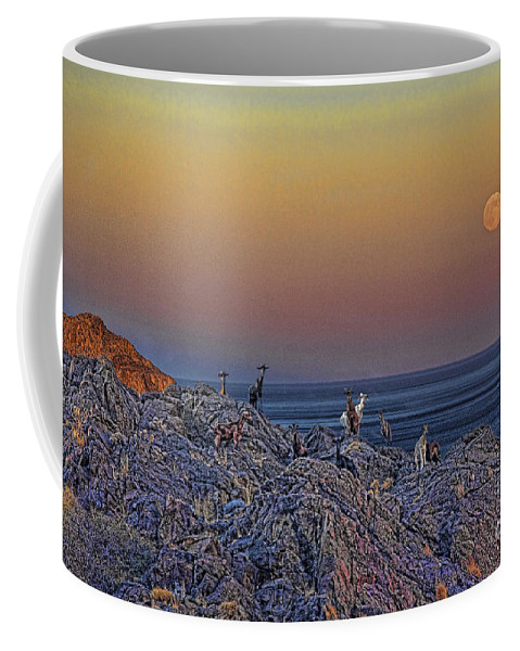 Crete Coffee Mug featuring the photograph Full Moon Gathering Of Capricorn by Casper Cammeraat