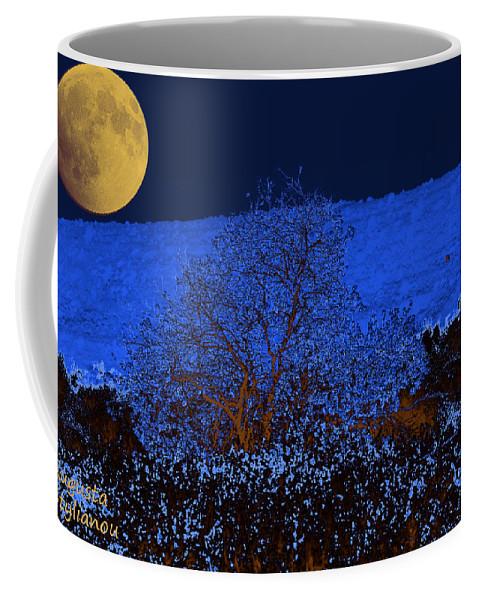 Full Moon Coffee Mug featuring the digital art Full Moon Night by Augusta Stylianou