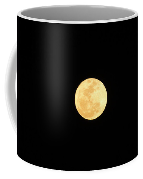 Night Coffee Mug featuring the photograph Full Moon Of Gold by Cynthia Croal