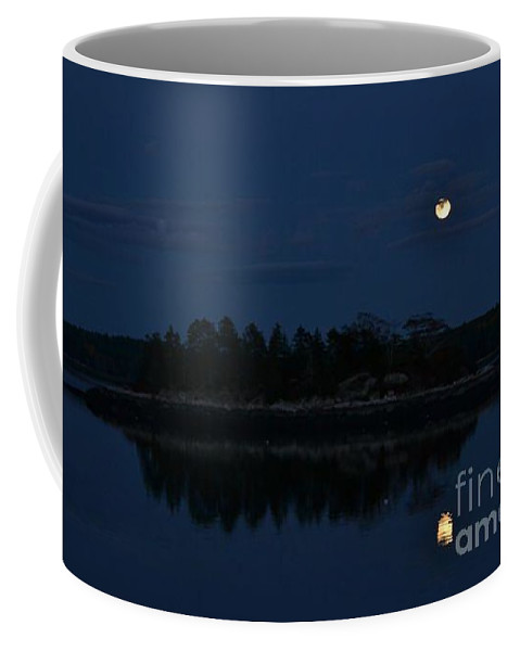 Coffee Mug featuring the photograph Full Moon Over Island by Susan Russo