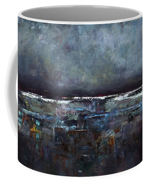 Ocean Coffee Mug featuring the painting The Seas Reflection by Frances Marino