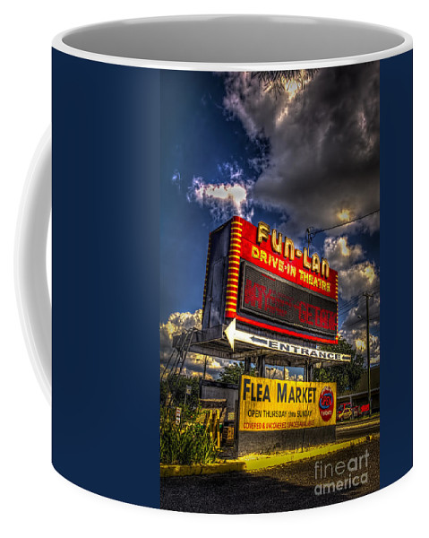 Theaters Coffee Mug featuring the photograph Fun-lan by Marvin Spates