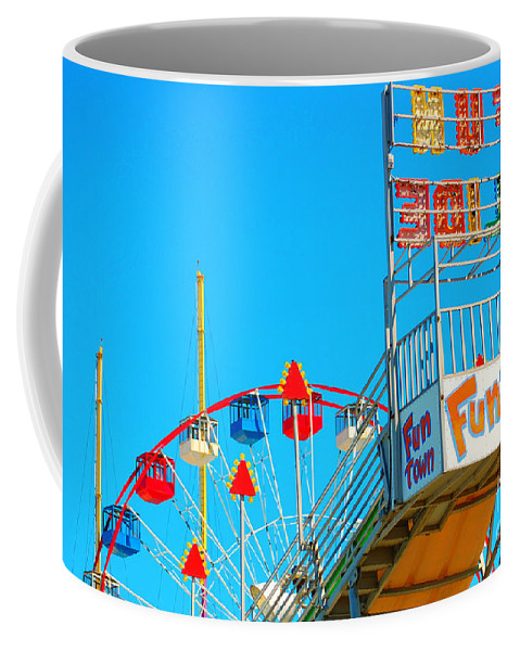 Slide Coffee Mug featuring the photograph Fun Slide by Chanel Fernandez