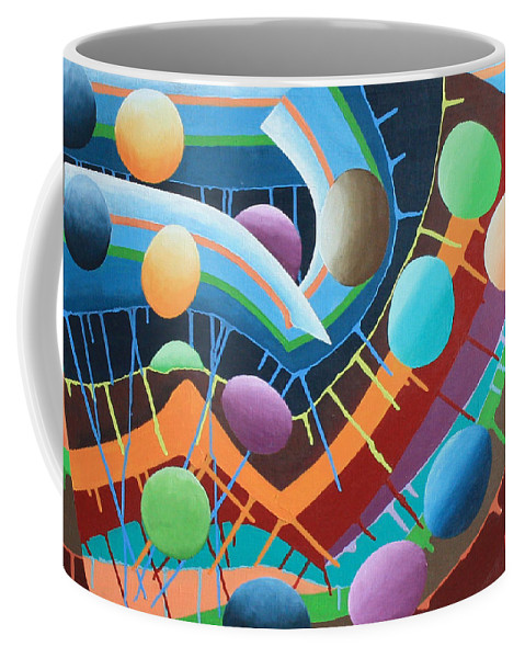 Paintings By Tracy Dupuis Roland Coffee Mug featuring the painting Funhouse by Tracy Dupis Roland