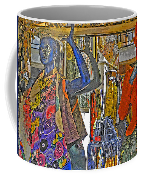 Fashion Coffee Mug featuring the photograph Funky Boutique by Ann Horn