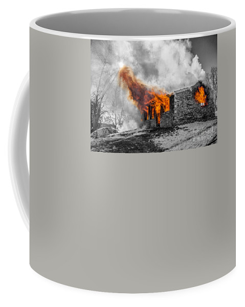 Fire Coffee Mug featuring the photograph Furious Fire by Andrew Slater