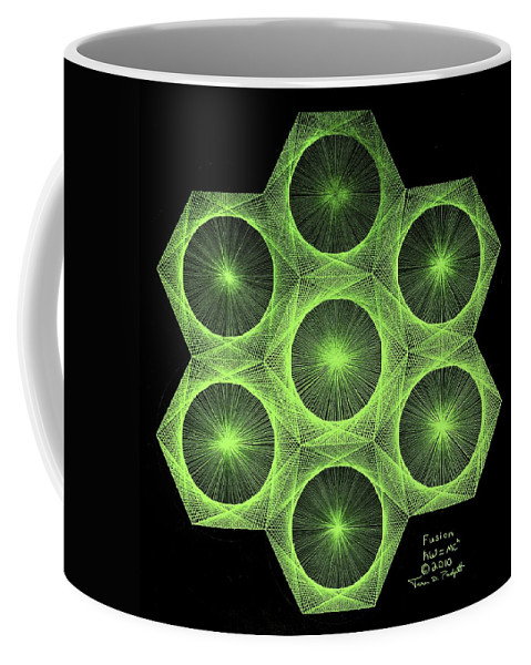 Jason Coffee Mug featuring the drawing Fusion by Jason Padgett