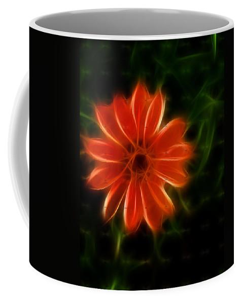 Coffee Mug featuring the photograph Futuristic Zinnia 4 by Douglas Barnett