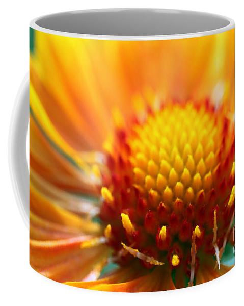 Yellow Coffee Mug featuring the photograph Gaillardia by Henrik Lehnerer