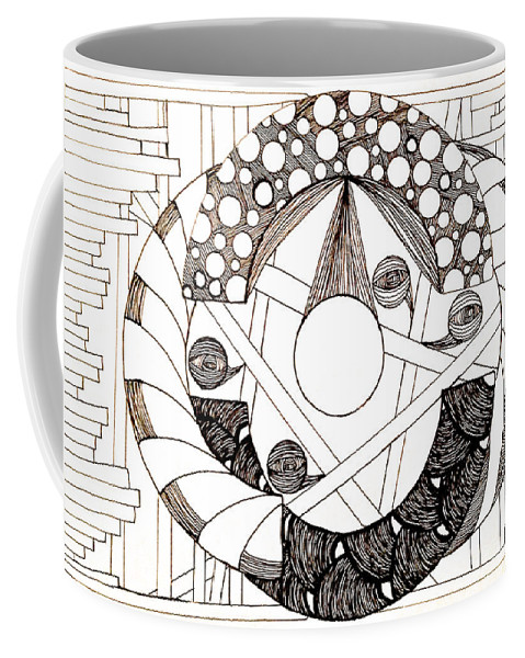 Abstract Coffee Mug featuring the drawing Galactic by Anita Lewis