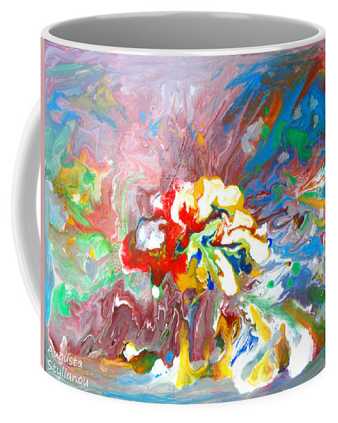 Augusta Stylianou Coffee Mug featuring the painting Galaxy Formation by Augusta Stylianou