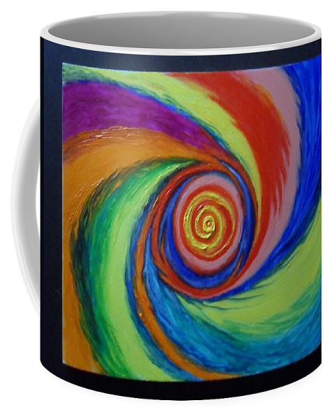 Galaxy Coffee Mug featuring the painting Galaxy M-63 by James Welch
