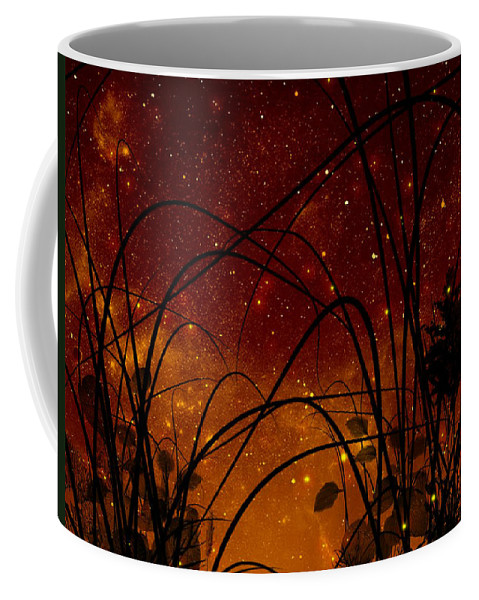 Galaxy Coffee Mug featuring the painting Galaxy by Persephone Artworks