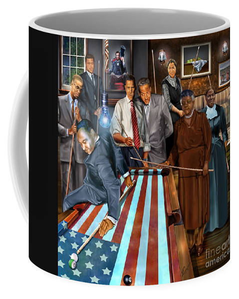 Harriet Tubman Coffee Mug featuring the painting Game Changers and Table Runners P2 by Reggie Duffie