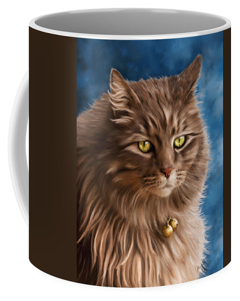 Cats Coffee Mug featuring the painting Gandalf by Michelle Wrighton