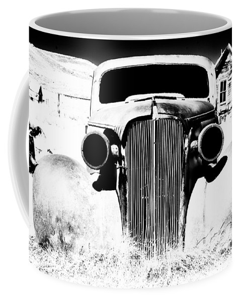 Ghost Town Coffee Mug featuring the photograph Gangster Car by Cat Connor