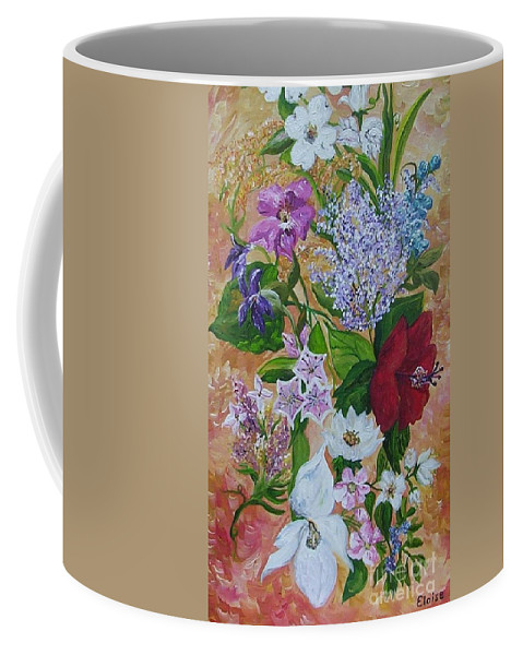 Flowers Coffee Mug featuring the painting Garden Delight by Eloise Schneider